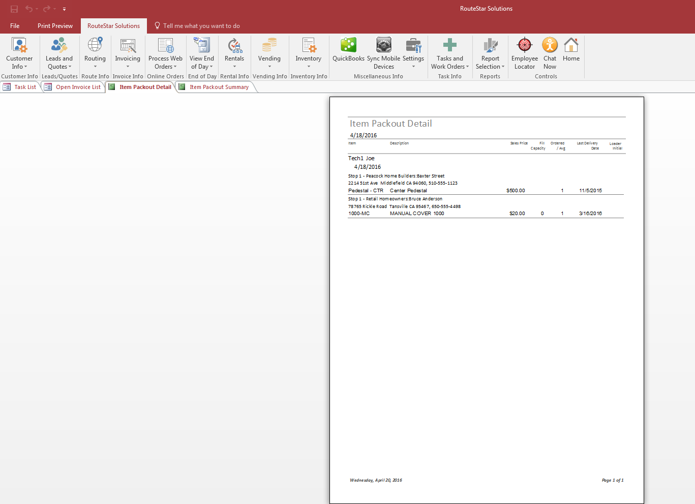 How To Print A Pack Out Report Online Help Center - Quickbooks invoice list report