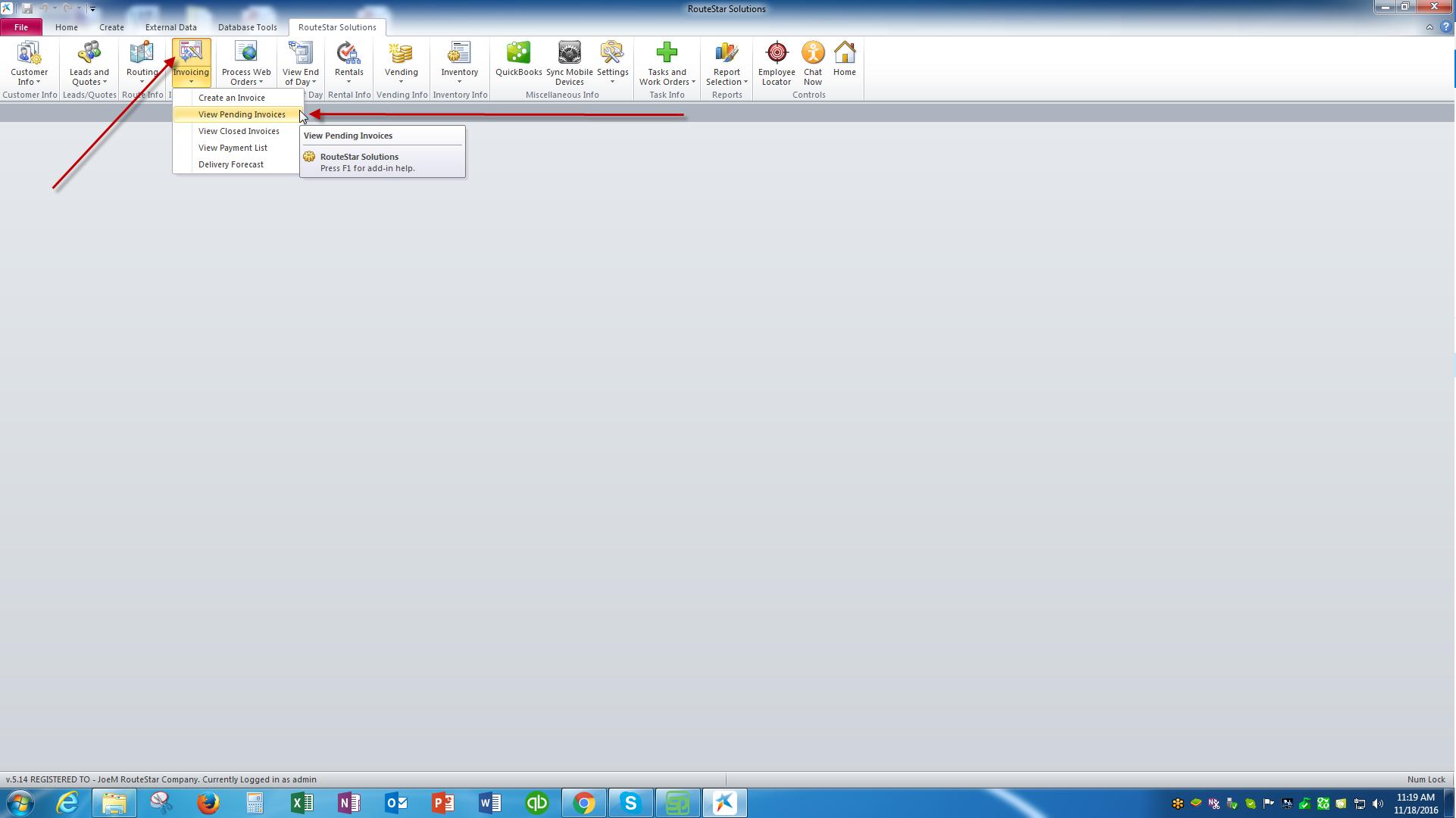 Open Invoice Report Online Help Center - Open invoice report